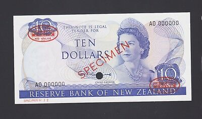 NEW ZEALAND 1967 Pick 166as 10 DOLLAR SPECIMEN