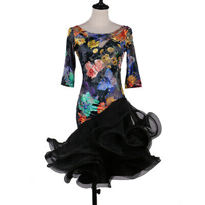 Hot! Ballroom Women's Latin Rumba Tango Salsa Samba Competition Dance Dress 063