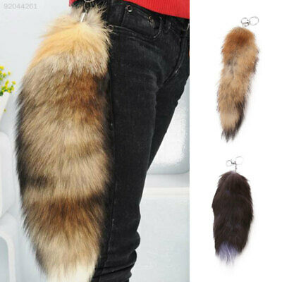 9273 Women's Bag Large Fox Fur Tail Pendant Charm Handbag Keychain Gifts Decor