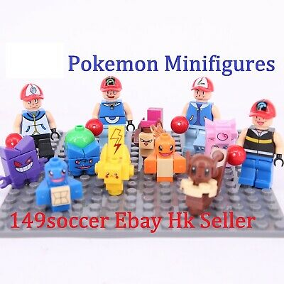 8PCS POKEMON GO Mini Figures Legoings PIKACHU POKEBALL Building Blocks Toys