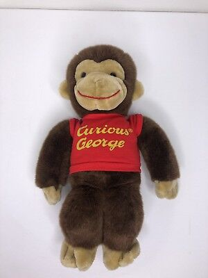 Lot of 3 Gund Curious George Red Shirt Plush Toy Stuffed Animal 12/""