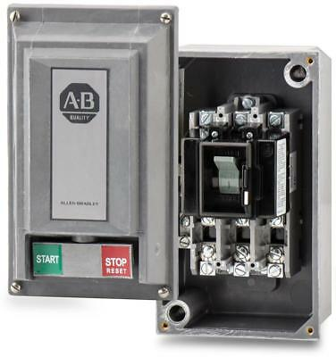 NEW Allen Bradley 609-ACW Manual Motor Starter Switch & Enclosure Size 0 3-Phase