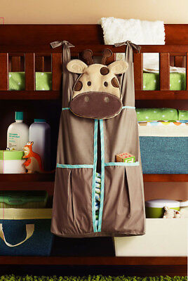 Premium Embroidered Nursery Diaper Stacker StorageNappy Stacker Hanging Holder