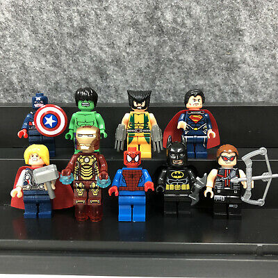 9 Pcs Marvel Avengers Mini Figures Batman Spider-man Hulk Superman Legoings
