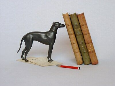 VINTAGE FRENCH ART DECO SPELTER STATUETTE from the 1930s (GREYHOUND DOG)