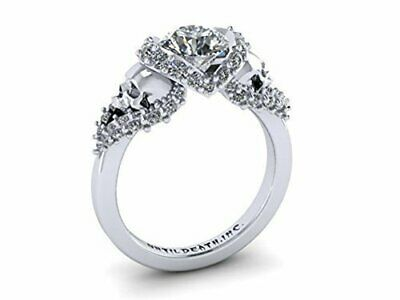 New 925 Silver Filled White Sapphire Birthstone Engagement Wedding Ring 5-11