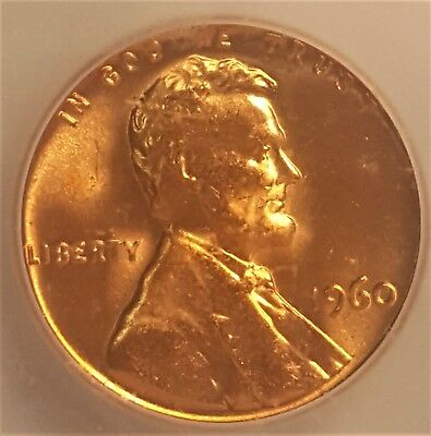 1960 Large Date Lincoln Cent ☆ Icg Ms 67 Red ☆ Scarce ☆ #2
