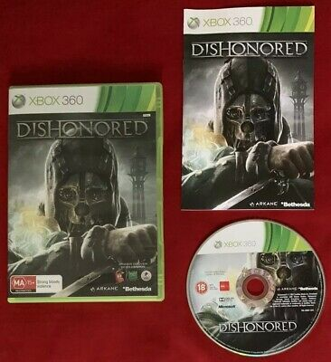 Dishonored Game for Microsoft Xbox 360 PAL in box with manual!