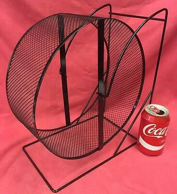 EX SAFETY MESH Metal Rat Exercise Wheel MASSIVE 11 Stand Silent Chinchilla Rats