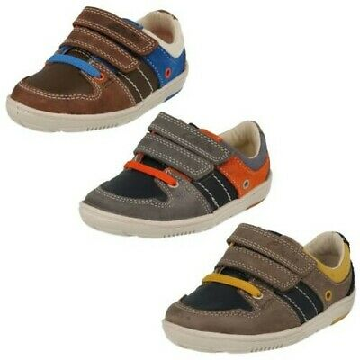 057027f6c59 SALE BOYS CLARKS Maxi Hehe Fst Brown Or Navy Leather Lace Up Ankle ...