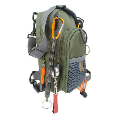 Fly Fishing Chest Waist Pack Bag Lightweight Comfortable Compact Fish Army Green