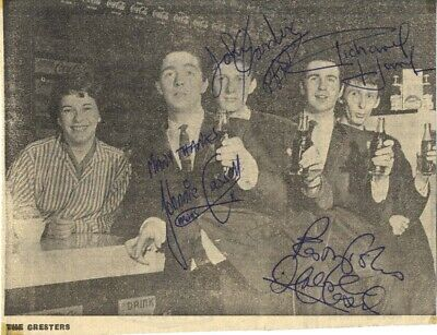 The Cresters - English 60's Beat Band (Supported The Beatles) I/P Signed Picture