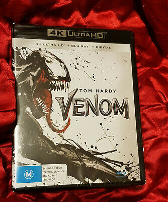 Venom ( 4k Blu-ray, 2019, 2-Disc Set)NEW.SEALED but plastic ripped.all regions