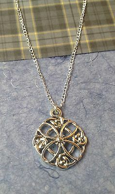 Silver Celtic Cross Necklace on 925 Silver Chain