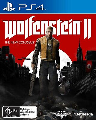 Wolfenstein II The New Colossus PS4 Game - Brand New - Sealed - Stock From Perth