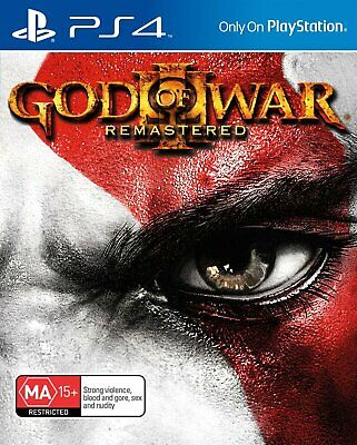 God of War III Remastered PS4 Game - Brand New - Sealed - Stock From Perth