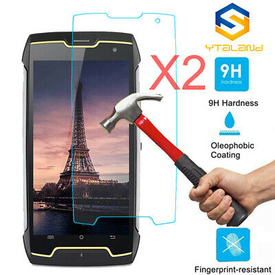 2Pcs 9H+ Premium Tempered Glass Film Screen Protector For Cubot king kong
