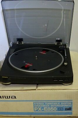 Vintage AiWA PX-E850 Stereo System turntable never been used with book