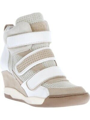 52099cc5b76 ASH White Wedge Sneakers Womens Trainers Shoes Size 4 UK 37 EU Excellent  cond