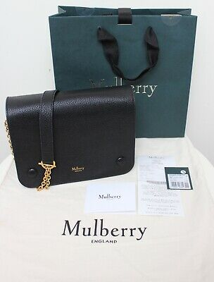 GENUINE MULBERRY CLIFTON Black Small Classic Grain Leather Shoulder Bag -  EUR 457 bf358a24590c0