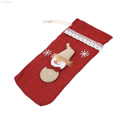 AB85 Christmas Wine Champagne Bottle Cover Bags Party Decorations Decor Creative