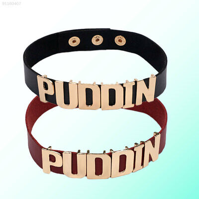 3105 Halloween Suicide Squad Batman Harley Quinn PUDDIN Cosplay Choker Necklace