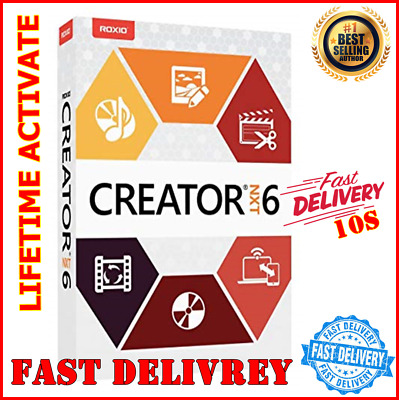 Roxio Creator NXT Pro 6 ⭐ Lifetime activator⭐ Instant Delivery - 3pc- (10s)📥