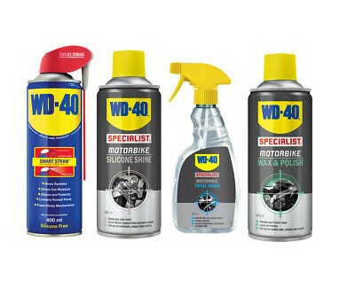 WD40 Specialist Motorcycle Protection Kit  Wash Silicone Spray Wax