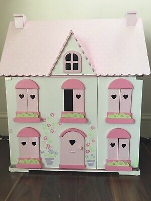 ELC childrens wooden Dolls House with Wooden Toys