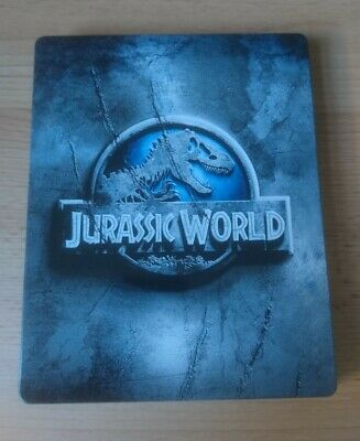 Jurassic World Steelbook [3D & 2D Blu Ray] - Mint Condition - As New!