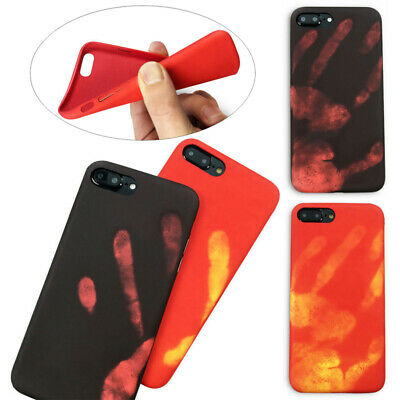 Fashional Thermal Sensor Case for iphone 6 6s 7 8Plus Heat Induction Phone Cover