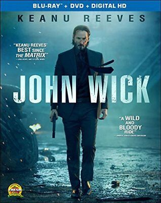 John Wick Blu-ray + DVD + Digital HD Keanu Reeves New