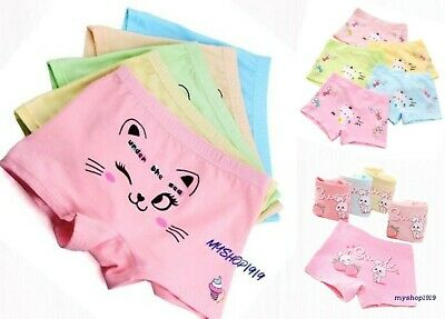 5 Pack Girls Boxer Shorts Soft Briefs Knickers Underwear Boxers Age 2-12 years