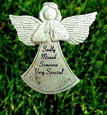 Angel Memorial Someone Very Special Sadly Missed Grave Ornament Wand Remembrance