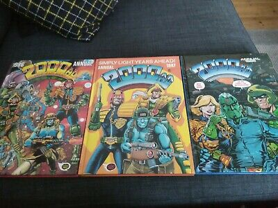 Three 2000AD annuals: 1986/87/88. All in good conditions. Judge Dredd, and much