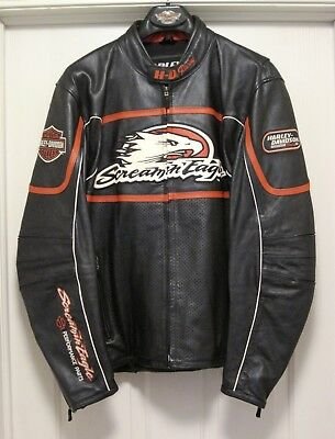 L@@k!! Mens Harley Davidson Screamin Eagle Raceway Leather Jacket Lg 98226-06Vm