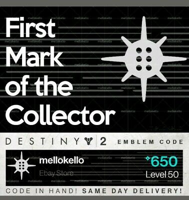 Destiny 2 : First Mark of the Collector emblem [PS4, PC, & XBOX1]