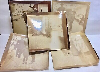 Very Rare White Star Line Onboard The Titanic original photograph Of Family Ship