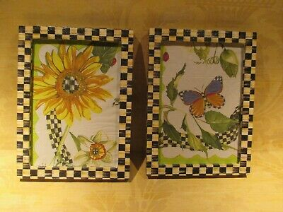 Set Of 2 Courtly Check Photo Frames For 5X7 Photo  ,hand Made By Me.