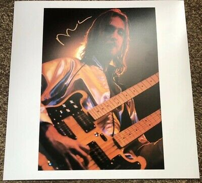 Mike Rutherford Genesis Genuine Hand Signed 12x12 Print Mike And The Mechanics