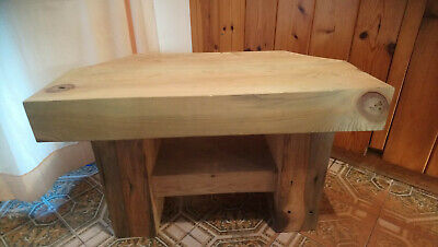 Solid Wood Corner Tv Stand Cabinet Table Reclaimed Sleepers