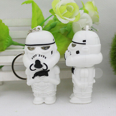 PORTE CLEF STAR WARS STORMTROOPERS LUMINEUX NEUF PORTE CLé LED LAMPE