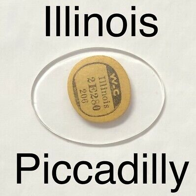 Vintage Rare NOS Illinois Piccadilly Glass Watch Crystal Antique