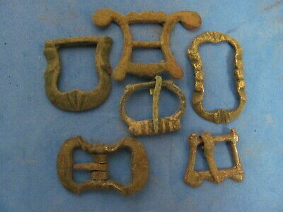 FANTASTIC Lot of (6) Bronze Buckles  Artefacts, Ancient to Post Medieval
