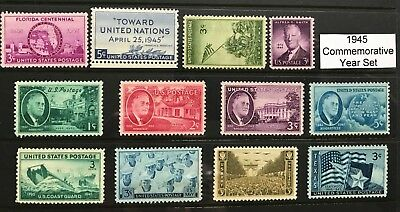 1945 US Commemorative Year Set (Complete) #927-938 MNH  FREE SHIPPING