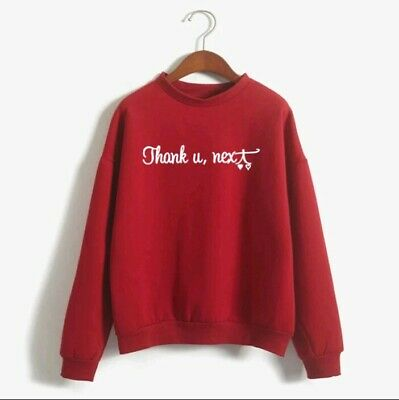 Ariana Grande Sweater Sweatshirt Hoodie Thank You Next / No Tears Left To Cry.