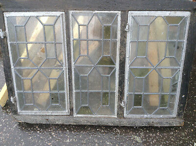 Large Stained Glass Window  Antique Period Leaded Glass Old Reclaimed.