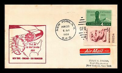 Dr Jim Stamps Us Cover First Jet Air Mail Flight Am 4 New York San Francisco