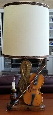 Antique 1713 Antonius Stradivarius Cremonensis Replica ViIolin Lamp