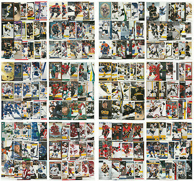 NHL Hockey Lots Player Card Lots No Dupes - Choose From List - SEE SCANS